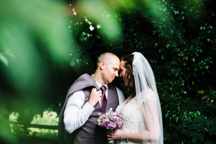 wedding portrait in Galway, Lisdinagh House